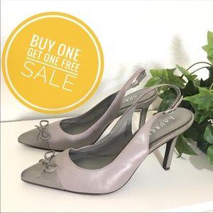 Ralph Lauren Sienna  Heels/ Gray Pointy Heels